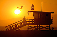 Lifeguard Steve Contarsy, 55, prepares to close his lifeguard station #20 on Friday, Aug. 31, 2007. He has been a lifeguard for 28 years.
