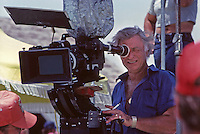 "Cameraman on set of ""Dallas,"" South Fork Ranch, Texas, 1980."