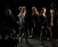 NEW YORK, NY-September 14: Bella Hadid, Gigi Hadid walk the runway rehearsal for  Anna Sui Fashion Show-2016 New York Fashion Week at the Arts Skylight of Moynihan Station in New York. September 14, 2016. Credit:RW/MediaPunch