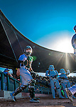 4 September 2016: As part of a Star Wars evening at the ballpark, the Vermont Lake Monsters take the field to play the Lowell Spinners at Centennial Field in Burlington, Vermont. The Spinners defeated the Lake Monsters 8-3 in NY Penn League action. Mandatory Credit: Ed Wolfstein Photo *** RAW (NEF) Image File Available ***