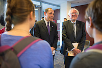 20141013 VA Secretary Robert McDonald and Senator Bernie Sanders Visit Medical School