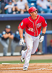 5 March 2016: Washington Nationals infielder Tyler Moore in action during a Spring Training pre-season game against the Detroit Tigers at Space Coast Stadium in Viera, Florida. The Nationals defeated the Tigers 8-4 in Grapefruit League play. Mandatory Credit: Ed Wolfstein Photo *** RAW (NEF) Image File Available ***