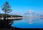 Jackson Lake, Mount Moran, Grand Teton National Park, Wyoming