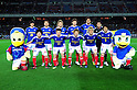 "F Yokohama F Marinos team group line-up,.MARCH 31, 2012 - Football / Soccer :.Yokohama F Marinos players (Top row - L to R) Shunsuke Nakamura, Hiroyuki Taniguchi, Masashi Oguro, Yuzo Kurihara, Yuji Nakazawa, Hiroki Iikura, (Bottom row - L to R) Takashi Kanai, Manabu Saito, Shingo Hyodo, Yuzo Kobayashi and Kosuke Nakamachi pose for a team photo with the club mascots ""Marinos-kun""(L) and ""Marinosuke""(R) before the 2012 J.League Division 1 match between Yokohama F Marinos 0-0 Kashima Antlers at Nissan Stadium in Kanagawa, Japan. (Photo by AFLO)"