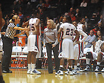 Ole Miss coach Renee Ladner vs. South Carolina in women's college basketball action in Oxford, Miss., on Sunday, January 16, 2011. South Carolina won 63-58 in overtime.