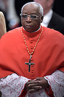 Monzabic Cardinal Julio Duarte Langa.Pope Francis,during a consistory for the creation of new Cardinals at St. Peter's Basilica in Vatican.February 14, 2015