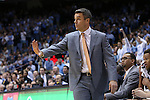 02 February 2015: Virginia head coach Tony Bennett. The University of North Carolina Tar Heels played the University of Virginia Cavaliers in an NCAA Division I Men's basketball game at the Dean E. Smith Center in Chapel Hill, North Carolina. Virginia won the game 75-64.