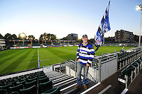 A Bath Rugby supporter poses for a photo prior to the match. European Rugby Challenge Cup match, between Bath Rugby and Bristol Rugby on October 20, 2016 at the Recreation Ground in Bath, England. Photo by: Patrick Khachfe / Onside Images