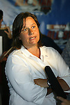 12 May 2003: Carolina Courage assistant general manager Marcia McDermott at a press conference in Cary, NC announcing that the Carolina Courage would host the 2003 All-Star Game..Mandatory Credit: Scott Bales/Icon SMI