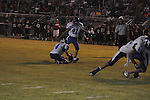 Water Valley's Alex Robles (41) kicks vs. Independence in high school football action in Independence, Miss. on Friday, August 19, 2011. Water Valley won 42-0.