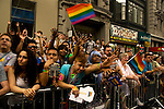 Gay Pride parade in New York , One of the world's oldest and largest gay pride celebrates the victory after New York's historic decision to legalize same-sex marriage. June 26 2011. ViewPress/ Joana Toro