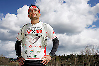 Ian Stewart/Yukon News<br /> Long-distance runner Ray Zahab brought his Canada ONExONE Run to Whitehorse. Zahab and his team are running 80-kilometres each day for 13 consecutive days, in each province and territory, to raise awareness for Canada ONExONE, which funds charitible organizations worldwide.