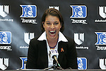 20 April 2007: New Duke University Women's Basketball head coach Joanne McCallie.  Duke University held a press conference to introduce new Women's Basketball head coach Joanne P. McCallie in Cameron Indoor Stadium in Durham, North Carolina.