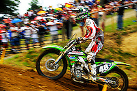 Matthew Lemoine during the first moto of the 250 class at the Lucas Oil AMA Pro Motocross at Budds Creek National in Mechanicsville, Maryland on Saturday, June 18, 2011. Alan P. Santos/DC Sports Box