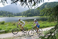 Bad Aussee, Ausseerland, Steiermark, Styria, Austria, September 2008. Mountainbikers on one of the many trails in the region.  The province of Styria is known for its green alpine landscape, good food and many lakes. Photo by Frits Meyst/Adventure4ever.com