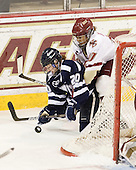 Emma Clark (UNH - 20), Blake Bolden (BC - 10) - The Boston College Eagles and the visiting University of New Hampshire Wildcats played to a scoreless tie in BC's senior game on Saturday, February 19, 2011, at Conte Forum in Chestnut Hill, Massachusetts.