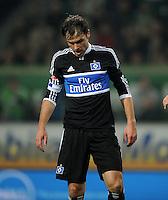 FUSSBALL   1. BUNDESLIGA   SAISON 2011/2012   27. SPIELTAG VfL Wolfsburg - Hamburger SV         23.03.2012 Heiko Westermann (Hamburger SV) ist enttaeuscht