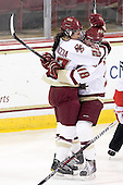 Mary Restuccia (BC - 22), Ashley Motherwell (BC - 18) - The visiting Boston University Terriers defeated the Boston College Eagles 4-1 on Wednesday, November 2, 2011, at Kelley Rink in Conte Forum in Chestnut Hill, Massachusetts.
