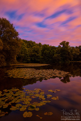 Twilight Clouds Over Pond, Parc des Sources, Bronnenpark, Brussels