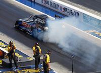 Sep 17, 2016; Concord, NC, USA; NHRA funny car driver John Bojec during qualifying for the Carolina Nationals at zMax Dragway. Mandatory Credit: Mark J. Rebilas-USA TODAY Sports