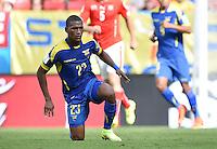 FUSSBALL WM 2014  VORRUNDE    Gruppe D     Schweiz - Ecuador                      15.06.2014 Carlos Gruezo (Equador)