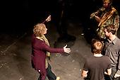 The Director, Natasha  Betteridge, dress rehearsal for Shakespeare's Macbeth, Rose Bruford College, Sidcup, Kent.