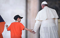 Pope Francis  of the Italian Sports Centre C.S.I. in St.Peter's Square at the Vatican.  June 7, 2014