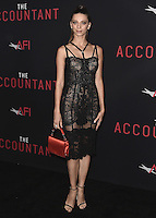 "HOLLYWOOD, CA - OCTOBER 10:  Angela Sarafyan at the Los Angeles world premiere of ""The Accountant"" at TCL Chinese Theater on October 10, 2016 in Hollywood, California. Credit: mpi991/MediaPunch"