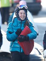 Princess Alexandra of Hanover enjoys figure skating & sledging in the snow - Austria