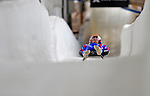 7 February 2009: Jakub Hyman slides for the Czech Republic in the Men's Competition at the 41st FIL Luge World Championships, in Lake Placid, New York, USA. .  .Mandatory Photo Credit: Ed Wolfstein Photo