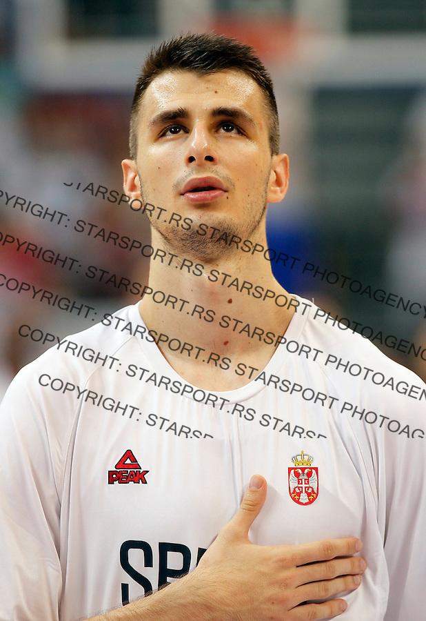 Nemanja Dangubic Kosarka Srbija - Francuska prijateljska 25.6.1016. JUN 25. 2016. (credit image & photo: Pedja Milosavljevic / STARSPORT)