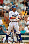 19 March 2006: Nomar Garciaparra, first baseman for the Los Angeles Dodgers, at bat during a Spring Training game against the Washington Nationals at Holeman Stadium, in Vero Beach, Florida. The Dodgers defeated the Nationals 9-1 in Grapefruit League play...Mandatory Photo Credit: Ed Wolfstein Photo..