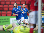 St Johnstone v Ross County....22.11.14   SPFL<br /> James McFadden celebrates his goal<br /> Picture by Graeme Hart.<br /> Copyright Perthshire Picture Agency<br /> Tel: 01738 623350  Mobile: 07990 594431