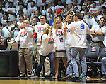 "Ole Miss fans cheer vs. Kentucky at the C.M. ""Tad"" Smith Coliseum on Tuesday, January 29, 2013."