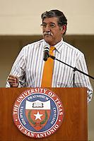 SAN ANTONIO, TX - SEPTEMBER 3, 2008: The University of Texas at San Antonio Roadrunner athletes take the Roadrunner Oath to begin the 2008-09 season at the UTSA Rec Center. (Photo by Jeff Huehn)