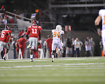 Texas'  Marquise Goodwin (84) scores on a pass play at Vaught-Hemingway Stadium in Oxford, Miss. on Saturday, September 15, 2012. Texas won 66-21. Ole Miss falls to 2-1.