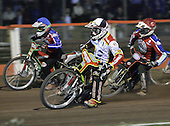 Heat 11 - Adams (tactical), Shields (red), Kling (blue) - Lakeside Hammers vs Swindon Robins - Sky Sports Elite League at Arena Essex, Purfleet - 17/08/07  - MANDATORY CREDIT: Gavin Ellis/TGSPHOTO - SELF-BILLING APPLIES WHERE APPROPRIATE. NO UNPAID USE. TEL: 0845 094 6026..