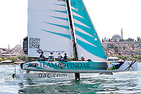Extreme Sailing Series 2011. Act 3.Turkey . Istanbul.Team GAC Pindar skippered by Ian Williams.Credit: Lloyd Images