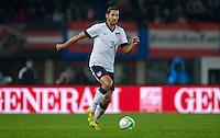 VIENNA, Austria - November 19, 2013: Omar Gonzalez during a 0-1 loss to host Austria during the international friendly match between Austria and the USA at Ernst-Happel-Stadium.