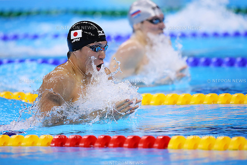 Yasuhiro Koseki (JPN), <br /> AUGUST 9, 2016 - Swimming : <br /> Men's 200m Breaststroke Heat <br /> at Olympic Aquatics Stadium <br /> during the Rio 2016 Olympic Games in Rio de Janeiro, Brazil. <br /> (Photo by Yohei Osada/AFLO SPORT)