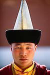 Buddhist monk, Gandantegchinlen Monastery, Ulaanbaatar, Mongolia