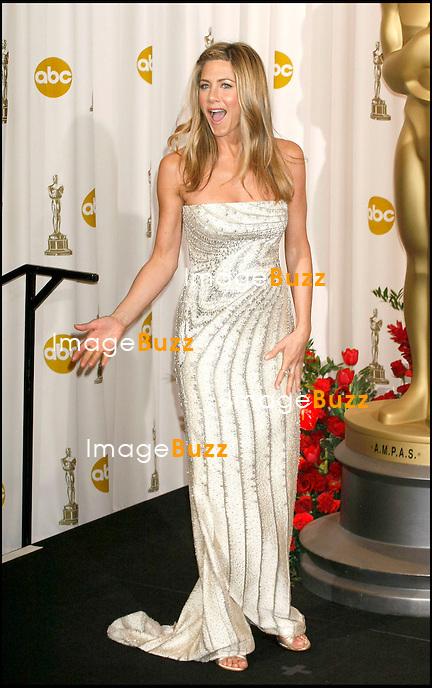 JENNIFER ANISTON - PRESS ROOM - 81EME CEREMONIE DES OSCARS A HOLLYWOOD..81st Annual Academy Awards Press Room