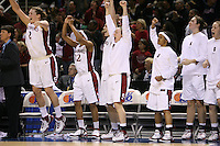 5 March 2007: Jayne Appel, Melanie Murphy, Michelle Harrison, Clare Bodensteiner, Markisha Coleman, Morgan Clyburn and Christy Titchenal during Stanford's 62-55 win over ASU in the finals of the women's Pac-10 tournament championship at HP Pavilion in San Jose, CA.