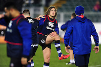Max Clark of Bath Rugby looks on during the pre-match warm-up. Anglo-Welsh Cup match, between Bath Rugby and Gloucester Rugby on January 27, 2017 at the Recreation Ground in Bath, England. Photo by: Patrick Khachfe / Onside Images