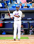 2 March 2010: New York Mets' center fielder Gary Matthews Jr. at bat against the Atlanta Braves during the Opening Day of Grapefruit League play at Tradition Field in Port St. Lucie, Florida. The Mets defeated the Braves 4-2 in Spring Training action. Mandatory Credit: Ed Wolfstein Photo
