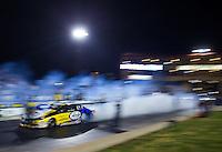 Jul 24, 2015; Morrison, CO, USA; NHRA pro stock driver Allen Johnson during qualifying for the Mile High Nationals at Bandimere Speedway. Mandatory Credit: Mark J. Rebilas-USA TODAY Sports