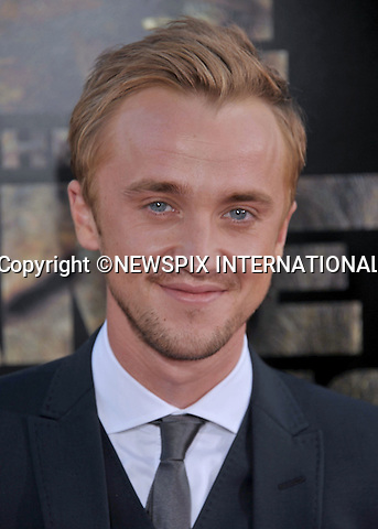 """TOM FELTON.attends the Premiere of """"Rise Of The Planet Of The Apes"""" at the Grauman's Chinese Theatre, Hollywood,California_28/07/2011.Mandatory Photo Credit: ©Crosby/Newspix International. .**ALL FEES PAYABLE TO: """"NEWSPIX INTERNATIONAL""""**..PHOTO CREDIT MANDATORY!!: NEWSPIX INTERNATIONAL(Failure to credit will incur a surcharge of 100% of reproduction fees).IMMEDIATE CONFIRMATION OF USAGE REQUIRED:.Newspix International, 31 Chinnery Hill, Bishop's Stortford, ENGLAND CM23 3PS.Tel:+441279 324672  ; Fax: +441279656877.Mobile:  0777568 1153.e-mail: info@newspixinternational.co.uk"""