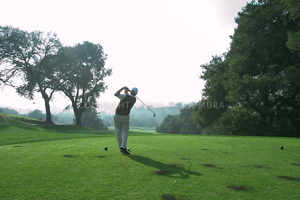 Stanford golf course. Teeing off.
