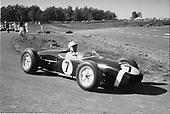 Stirling Moss, Lotus 18, at Watkins Glen Formula Libre race 1960, precurser to following year's inaugural US Grand Prix
