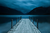 Single exposure of Lake Rotoiti at dusk, shot over 30 seconds with a polarizer and 3-stop hard graduated neutral density filter